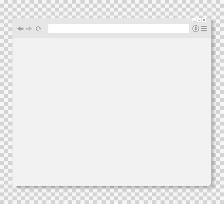 Opened browser window template Vectores