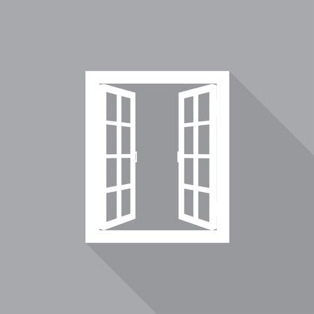 window open: Window in a flat-style