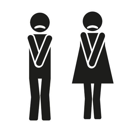 wc: funny wc Symbole Illustration