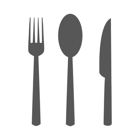 knife fork: fork spoon knife icon set