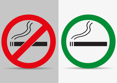 smokers: No and yes smoking labels