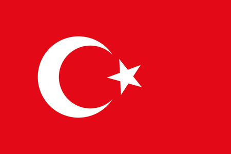 vintage flag: Turkey flag Illustration