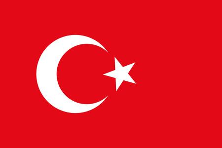 Turkey flag Vectores