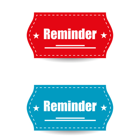 reminders: Reminder labels with shadow