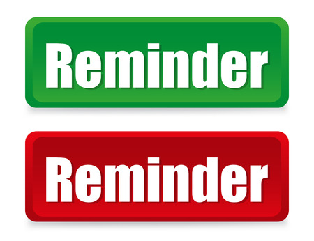 reminders: Coloured buttons reminders