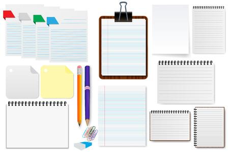 office paper: Office paper sheet set  illustration
