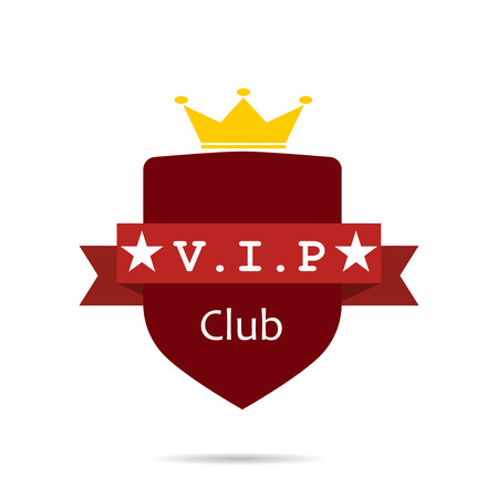 red sign: Vip club sign label red