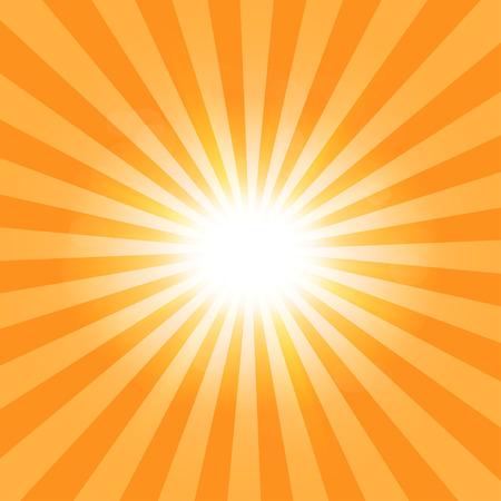 Patrón de rayos fondo del sol Vectores