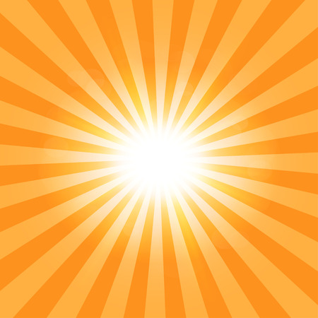 orange sunset: The suns rays pattern background
