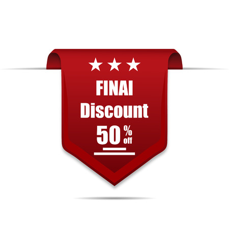 50  off: Final Discount 50 Off label