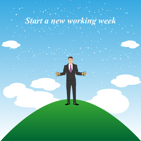 chased: Illustration of the beginning of the work week