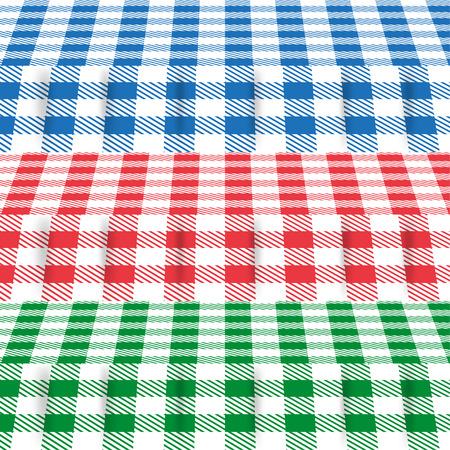 色のテーブル クロスのセット
