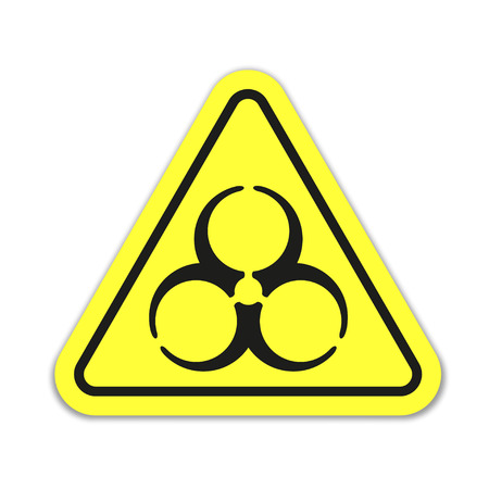 dangers: Danger sign on yellow background Illustration