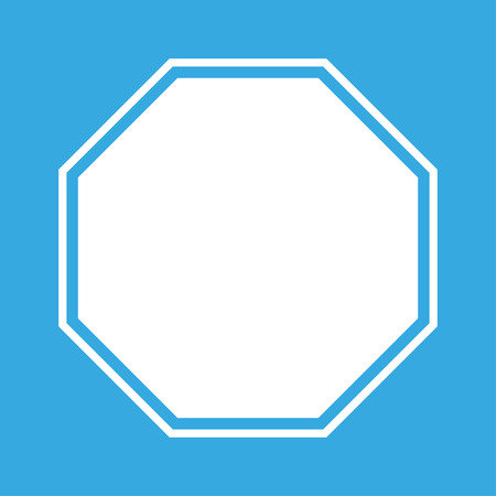 single entry: Blank Stop Sign on blue background