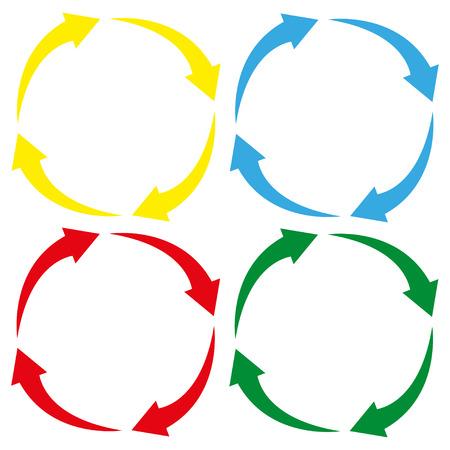 화살표 원 아이콘주기 표지판 색깔