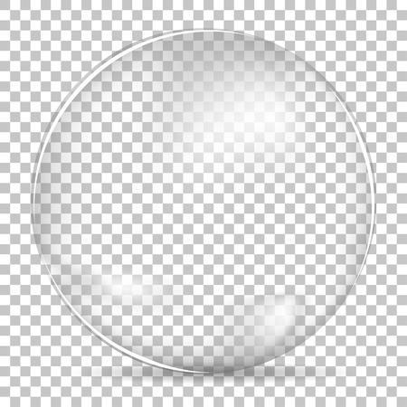 esfera: Tazón burbuja transparente grande Vectores