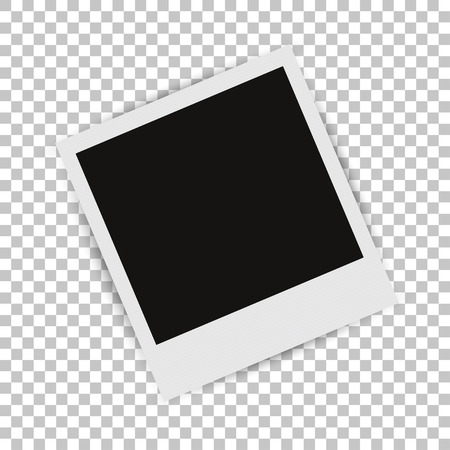isolated on grey: Photo Frame with shadow