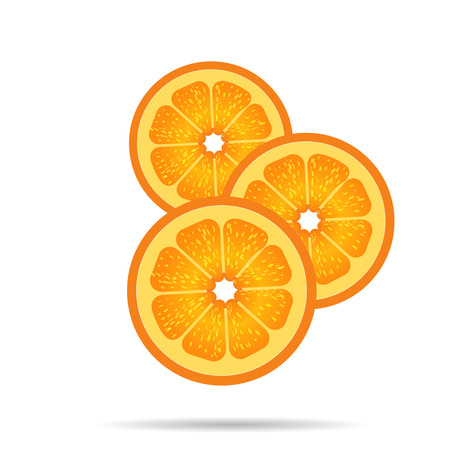 photorealistic: Orange slices with the shadow