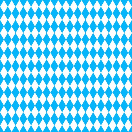 Oktoberfest  background with blue rhombus Illustration