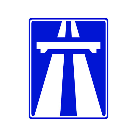 highway icon: Highway signs Traffic blue Illustration