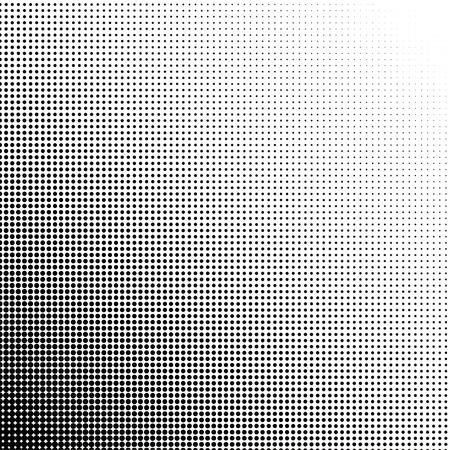 Halftoonrasterpunten gradiënt punt op 45 graden Vector Illustratie