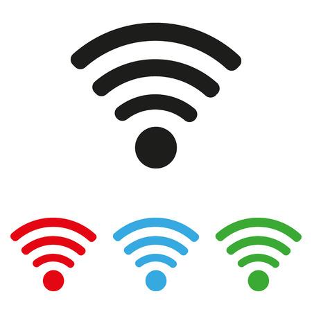 broadcast: wifi icon set colored
