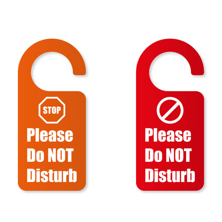 to disturb: Options sign please do not disturb Illustration