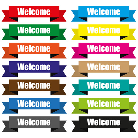 peeler: Welcome on colored ribbons origami