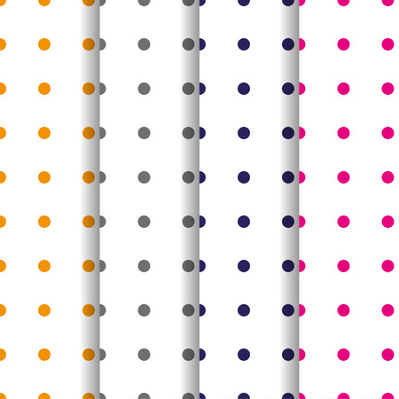 retro circles: Set of patterns with circles retro colors Illustration