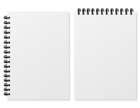 Lege realistische spiraal notitieblok op een witte achtergrond