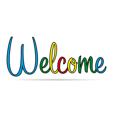 handlettering: welcome with shadow