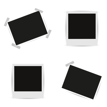 Collection blank photo frames