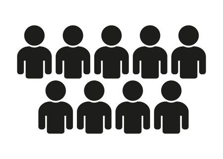 人アイコン人口、チームワーク  イラスト・ベクター素材