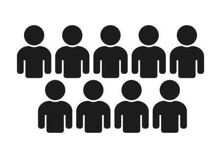 People Icon Population, Teamwork Stock Illustratie