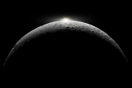 suns: Moon reflects suns.  Illustration
