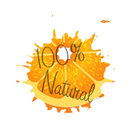 orange juice:  natural 100 percent orabge fruit Stock Photo