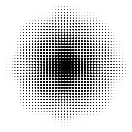 gradation art: Halftone circles of various colorful shadow congestion