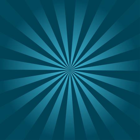 sunburst: Ray turquoise background retro illustration beautifully executed Illustration