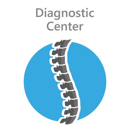 vertebra: icon back to the diagnostic  center shadow