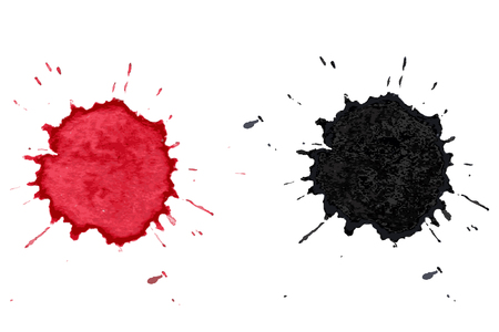 red wine stain: Colorful water texture Watercolor , coffee and wine white background