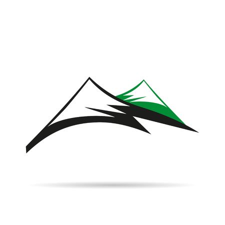 elevate: Logo company with Mountain ,flat design on  white background