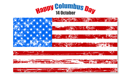 memorial: Background to the day of Columbus,  American flag Illustration