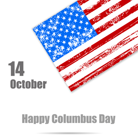 christopher columbus: Background to the day of Columbus,  American flag Illustration