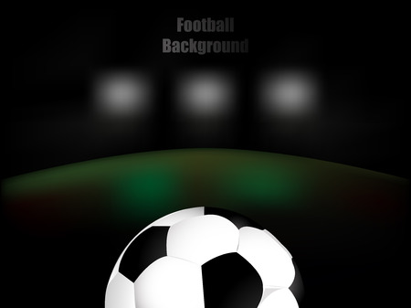 soccer background: Football soccer background retro  illustration with ball