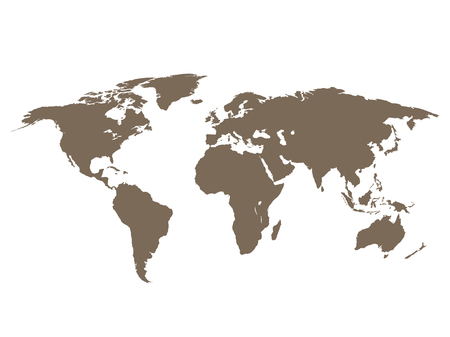 earth map: World map earth on a white  background Illustration