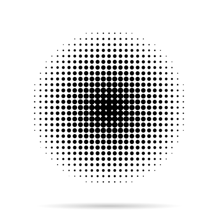 Halftone dots radial with shadow on white  background Imagens - 45889944