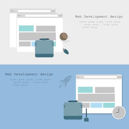 web design background: Web Development design brochure two variants  background stylish