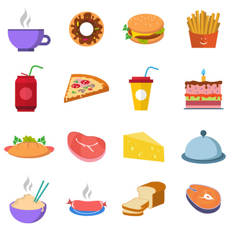 meat food: Set a variety of food, water and meat  fastfood
