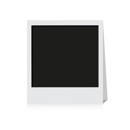 polariod frame: Photo frame isolated on a white background Illustration