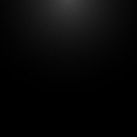 Zwarte metalen achtergrond met licht van de top en de lijnen Stock Illustratie